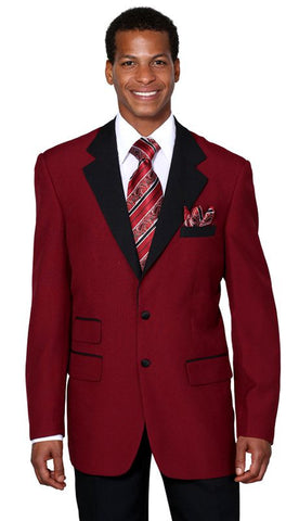 Milano Moda Suit 7022C-Burgundy/Black