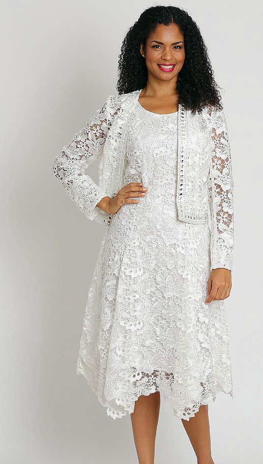 Diana Dress 8190-Ivory - Church Suits For Less