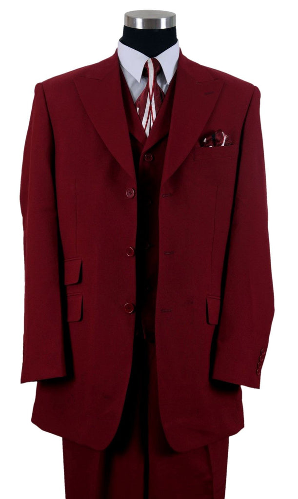Milano Moda Suit 905V-Burgundy - Church Suits For Less