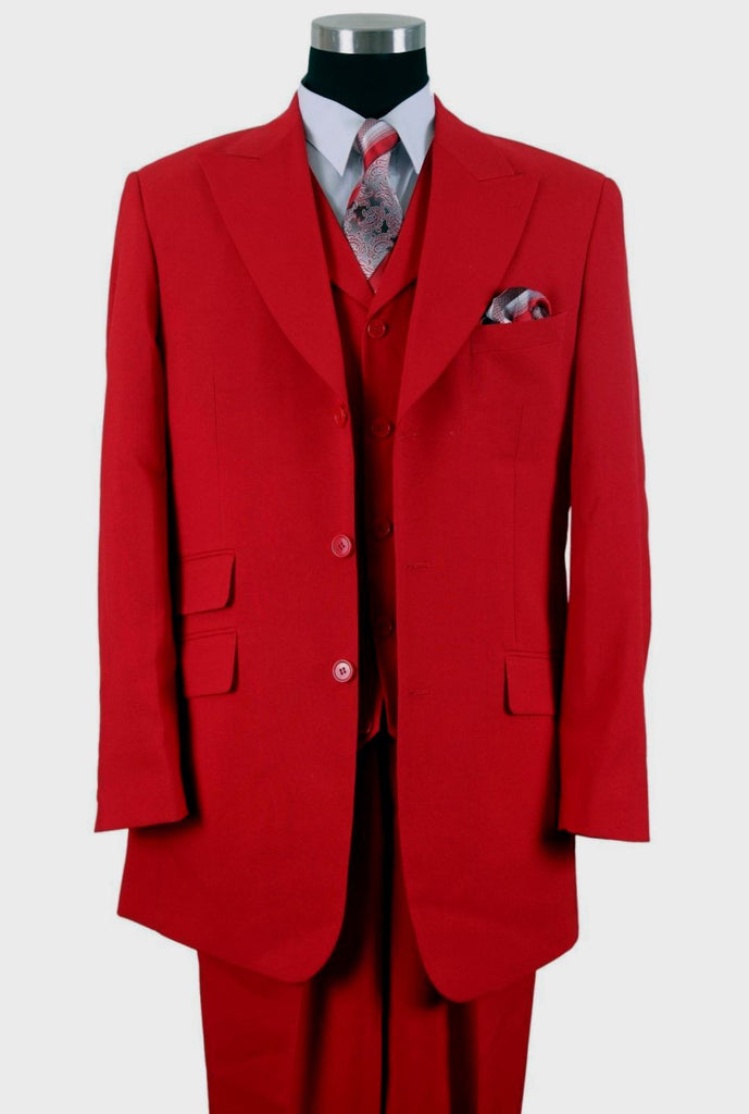 Milano Moda Suit 905V-Red - Church Suits For Less