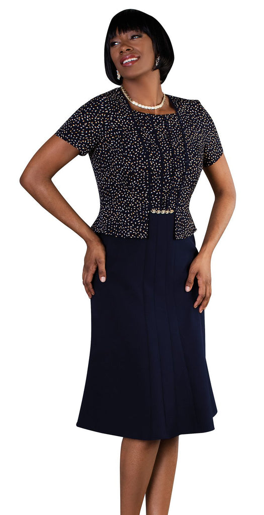 Tally Taylor Dress 9445-Navy - Church Suits For Less