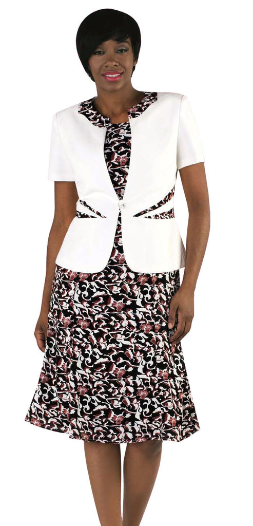 Tally Taylor Dress 9446-White Multi - Church Suits For Less