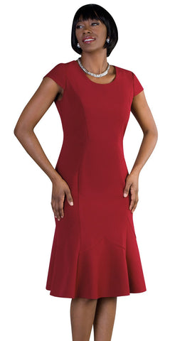 Tally Taylor Dress 9449-Burgundy/Multi - Church Suits For Less