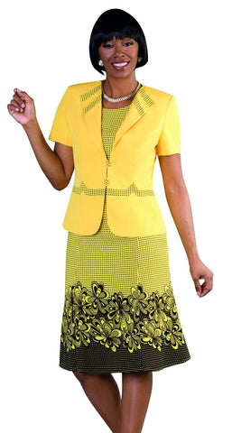 Tally Taylor Dress 9450-Yellow/Black