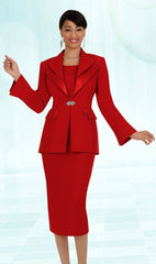 Aussie Austine Usher Suit 12427-Red - Church Suits For Less