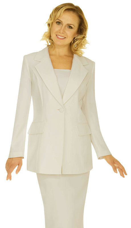 Aussie Austine Usher Suit 12441-Off-White - Church Suits For Less