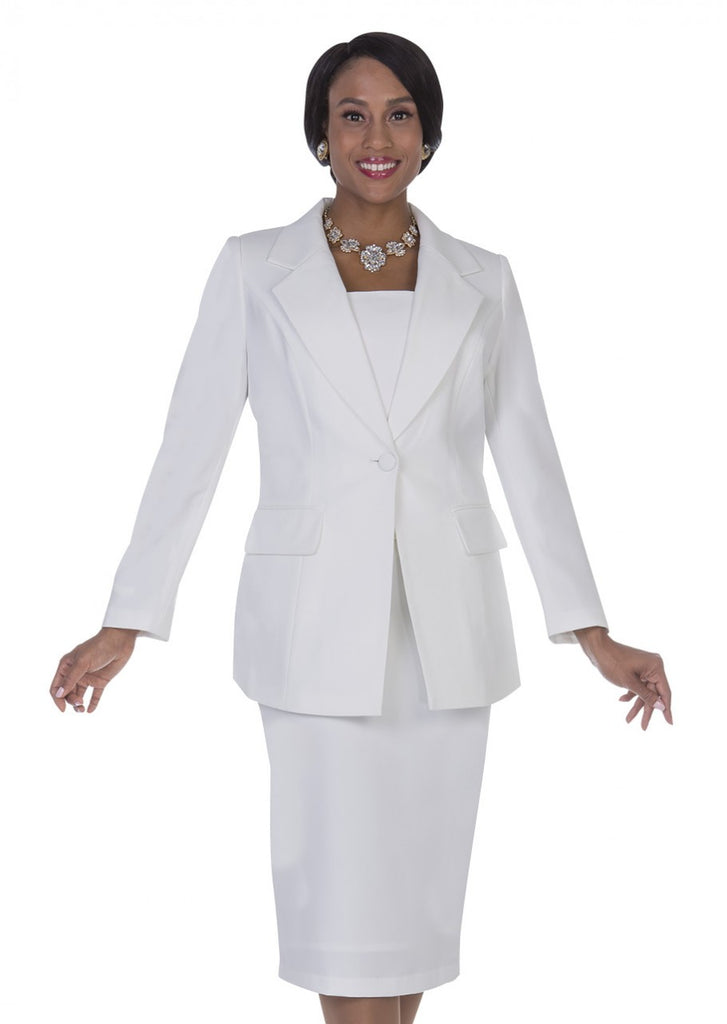 Aussie Austine Usher Suit 12441-White - Church Suits For Less