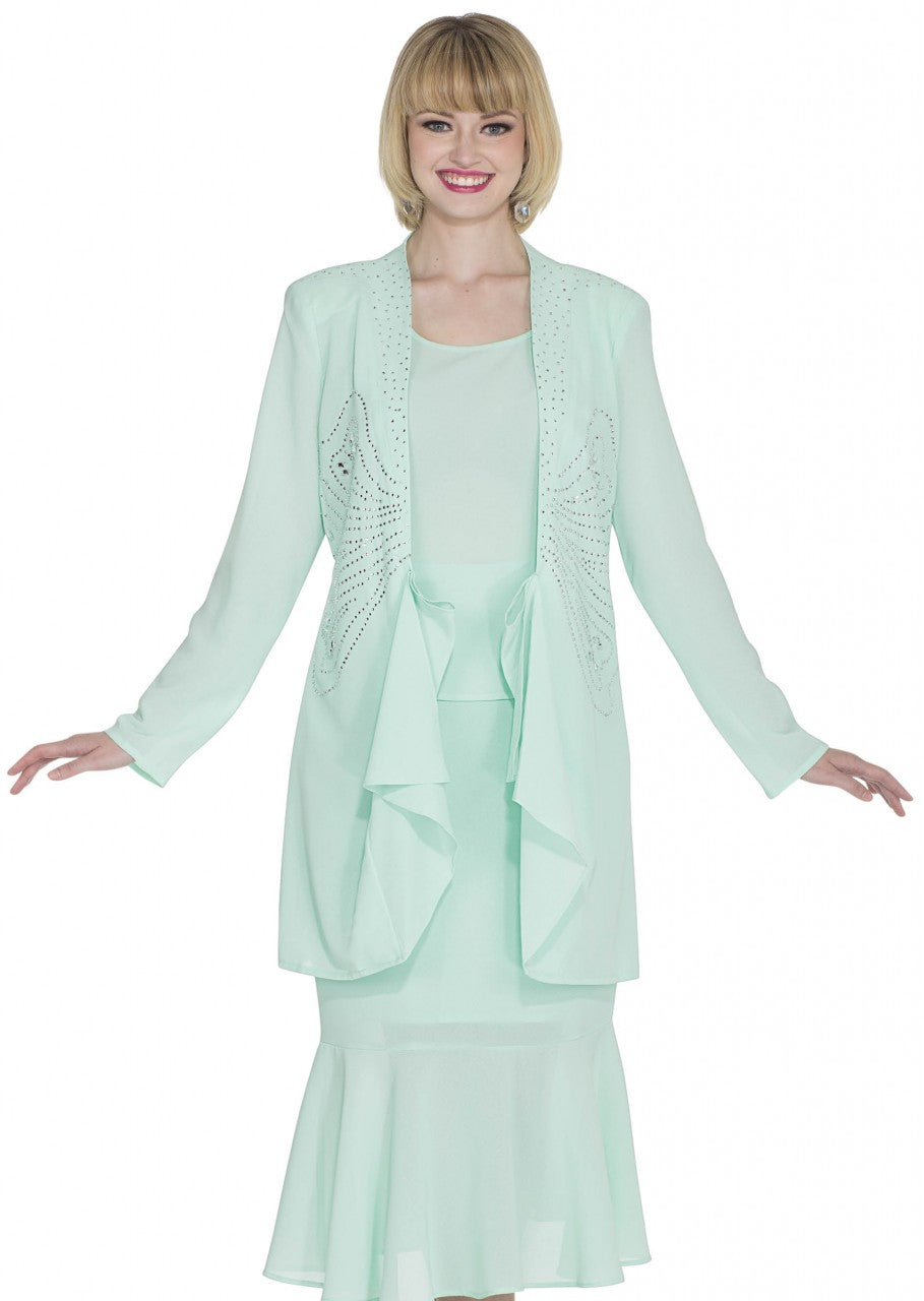 Aussie Austine Christie Skirt Suit 672 - Church Suits For Less