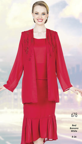 Aussie Austine Christie Skirt Suit 678-Red