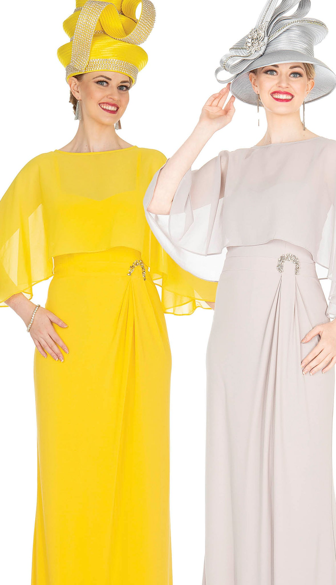 Aussie Austine Dress 5362-Yellow - Church Suits For Less