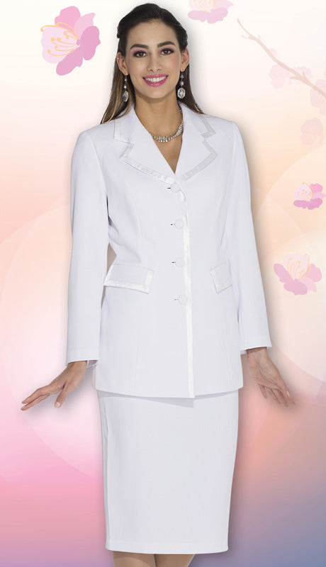 Aussie Austine Usher Suit 11809-White - Church Suits For Less