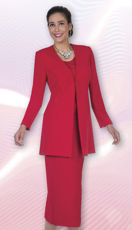 Aussie Austine Usher Suit 11812-Red - Church Suits For Less