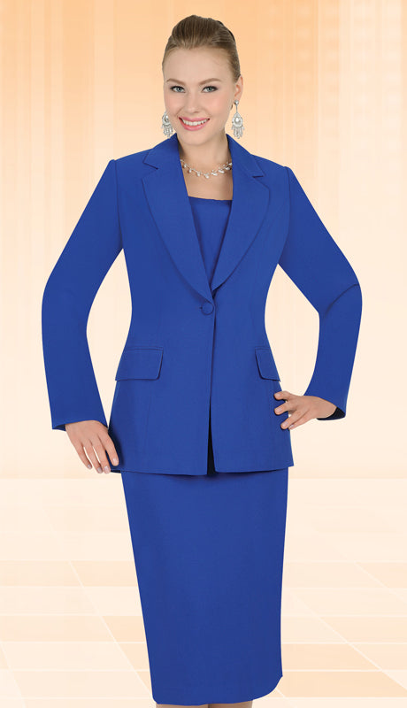 Aussie Austine Usher Suit 12441C-Royal Blue - Church Suits For Less