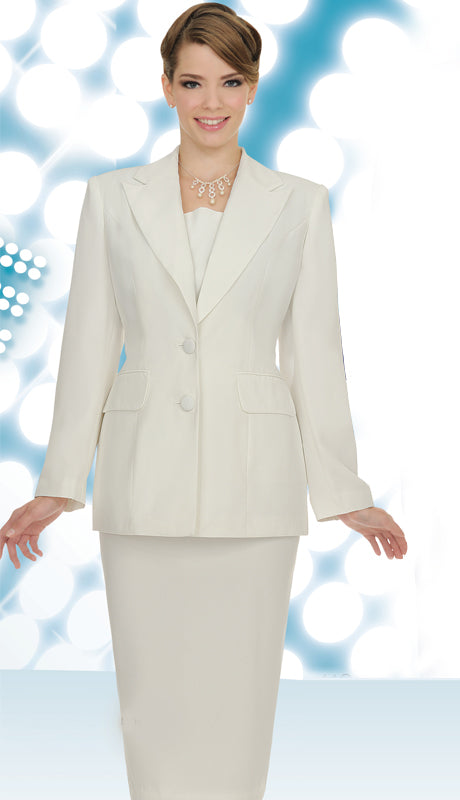 Aussie Austine Usher Suit 12442-Off-White - Church Suits For Less