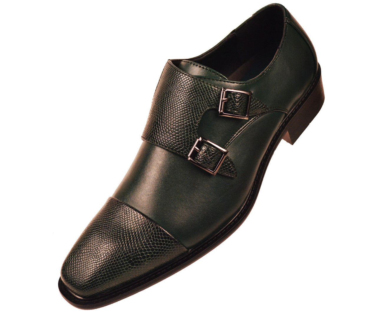 Men Shoes Bancroft-015-HunterGreen - Church Suits For Less