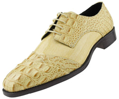 Men Dress Shoes-Bandi-Taupe - Church Suits For Less
