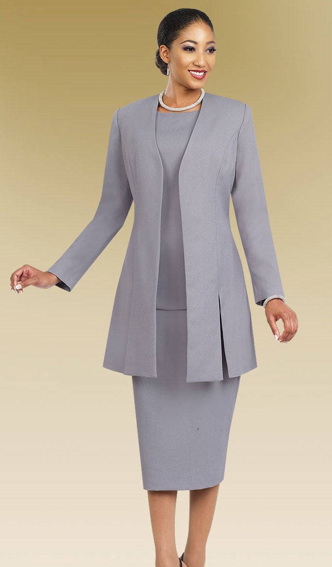 Ben Marc Usher Suit 2296-Silver - Church Suits For Less