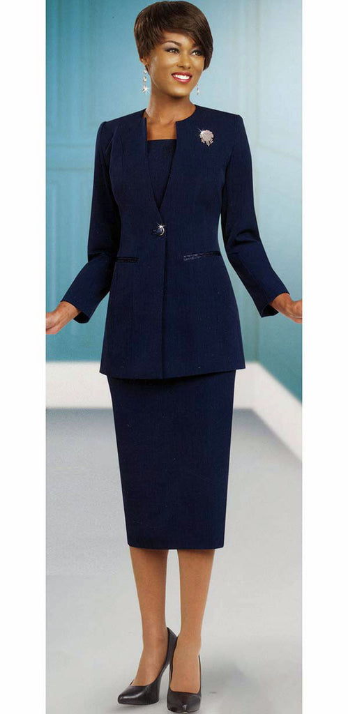 Ben Marc Usher Suit 78099-Navy - Church Suits For Less