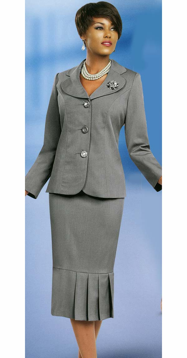 Ben Marc Usher Suit 78095-Silver - Church Suits For Less