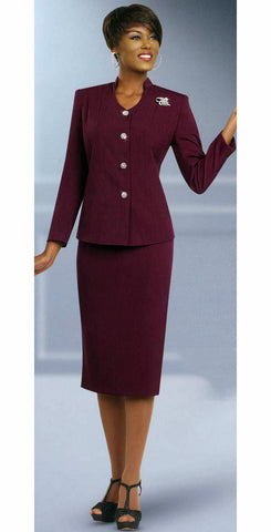 Ben Marc  Usher Suit 78096-Burgundy - Church Suits For Less