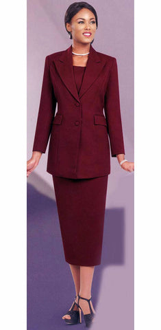 Ben Marc Usher Suit 2299C-Burgundy