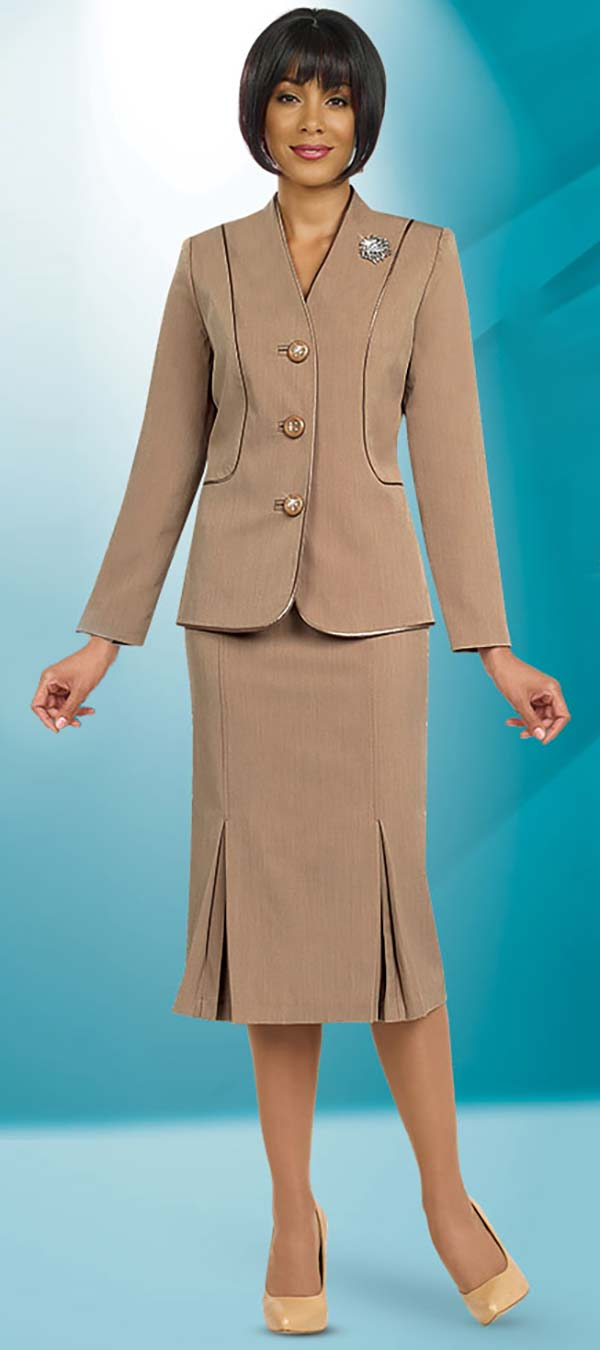 Ben Marc Usher Suit 78098-Taupe - Church Suits For Less