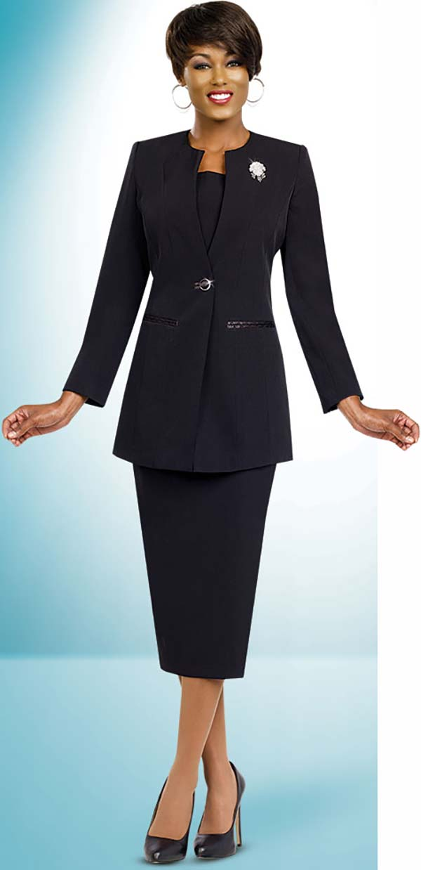 Ben Marc Usher Suit 78099-Black - Church Suits For Less