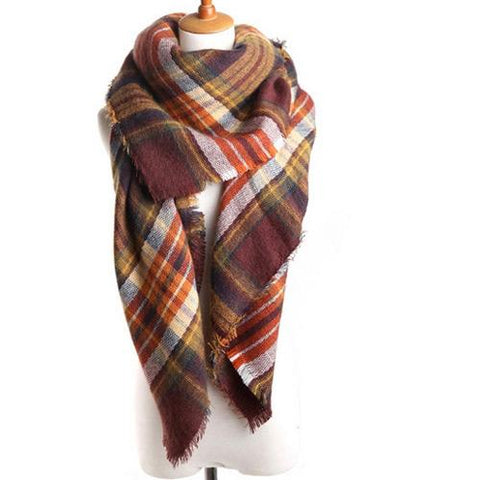 Women Fashion Scarf C76716-Coffee - Church Suits For Less