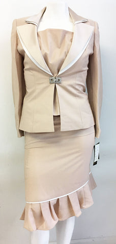 Champagne Italy Suit 3829-Cream