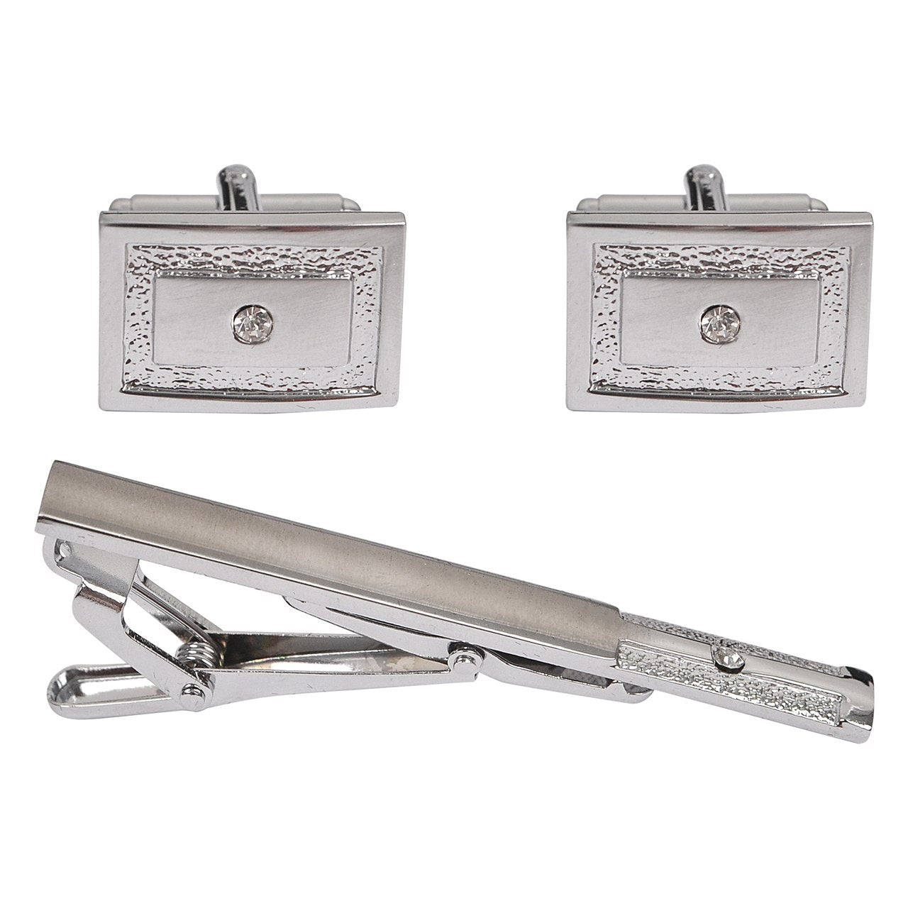 Cuff-link and Tie Bar Set CTB2140 - Church Suits For Less