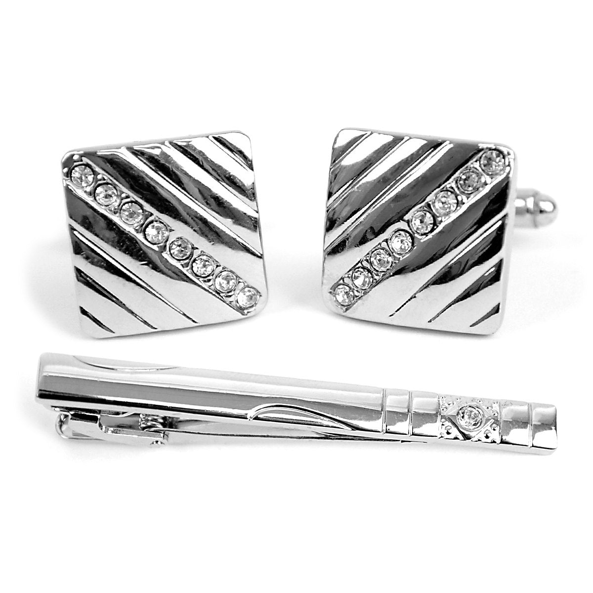 Cuff-link and Tie Bar Set CTB2304 - Church Suits For Less