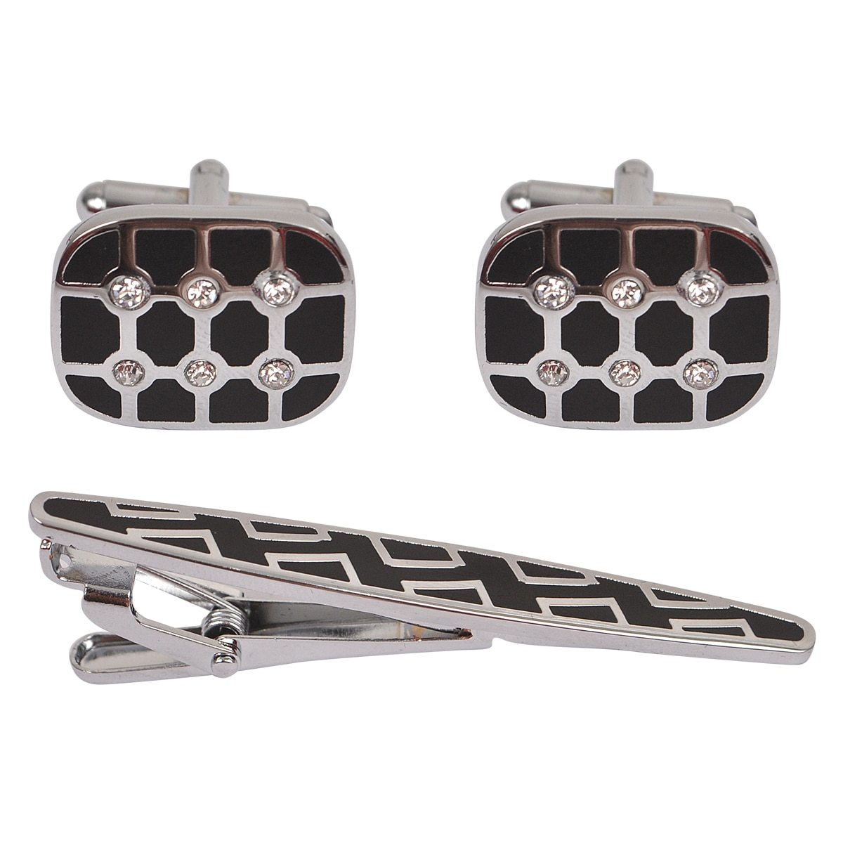 Cuff-link and Tie Bar Set CTB2501 - Church Suits For Less
