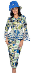 Giovanna Suit D1342-Royal Multi - Church Suits For Less