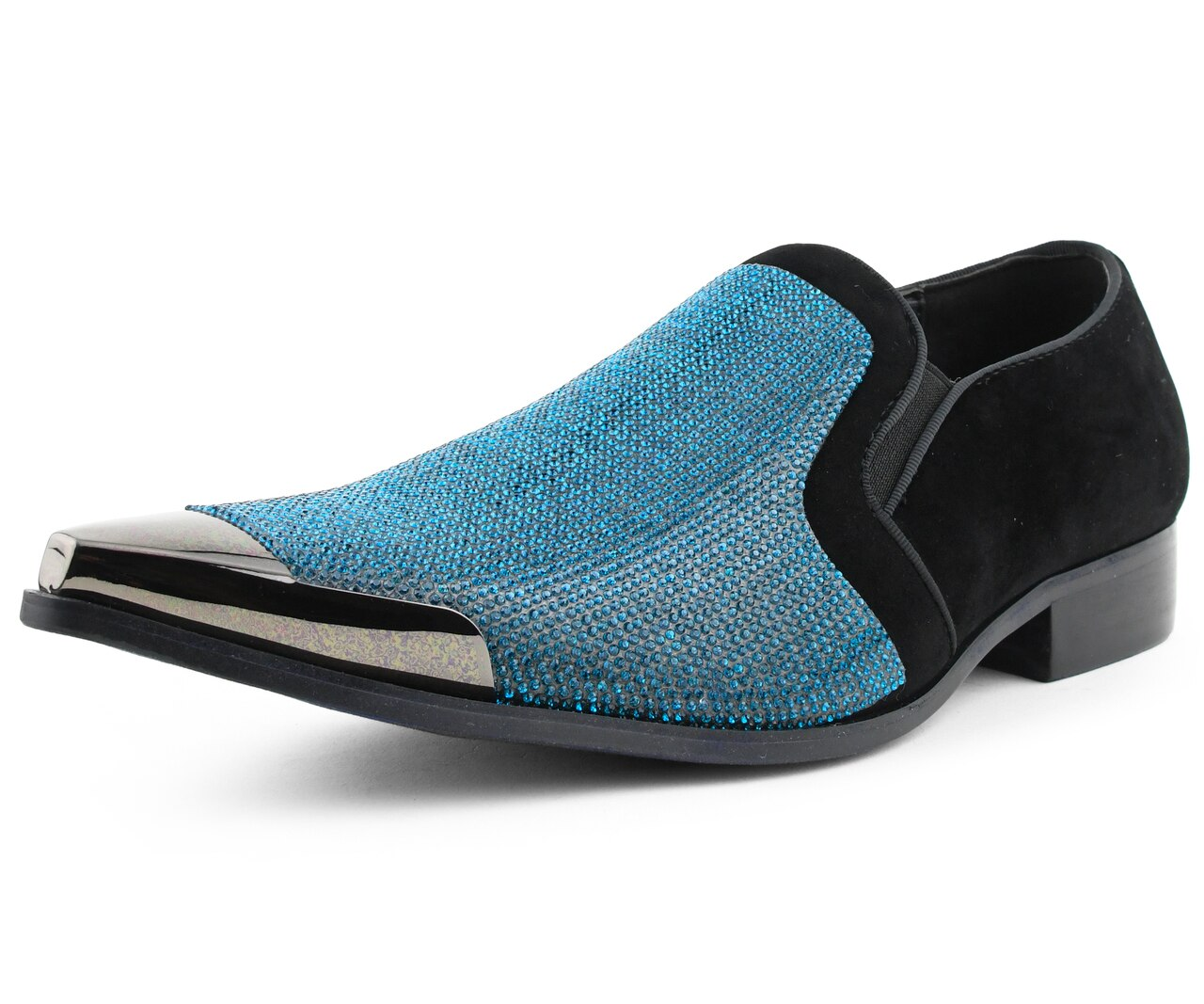 Men Dress Shoes-Dezzy-turquoise - Church Suits For Less