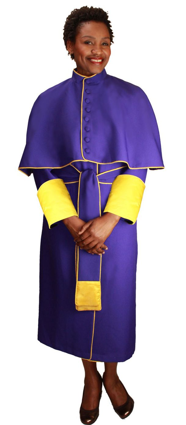 Papal Robe RR9002-Purple/Gold - Church Suits For Less
