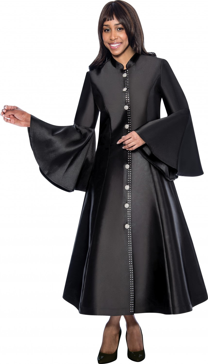 Church Robe  RR9031-Black - Church Suits For Less