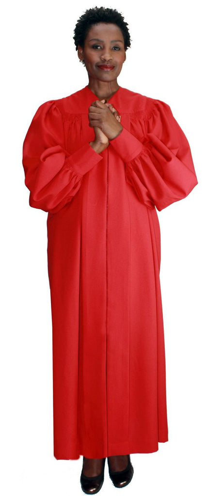 Velcro Cuff Baptismal Robe RR9071-Red - Church Suits For Less