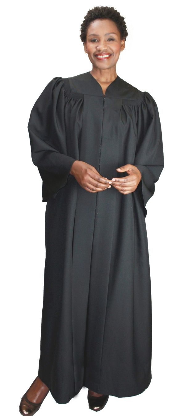 Baptismal Robe RR9081-Black - Church Suits For Less
