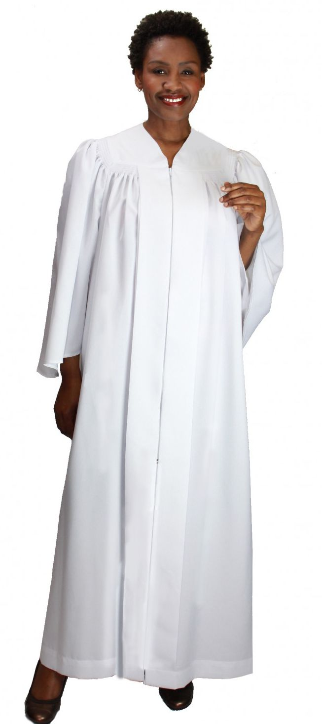 Baptismal Robe RR9081-White - Church Suits For Less