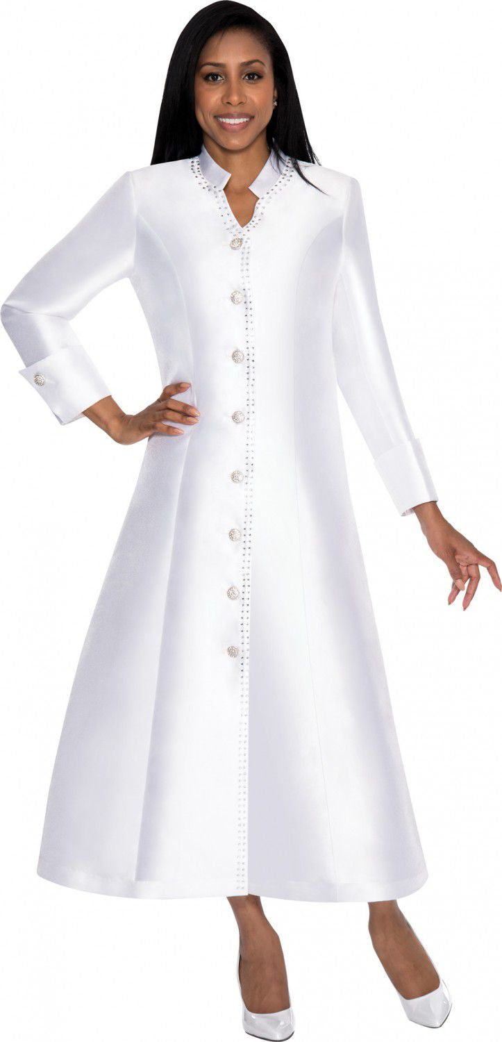 Nubiano Dress 5881-White - Church Suits For Less