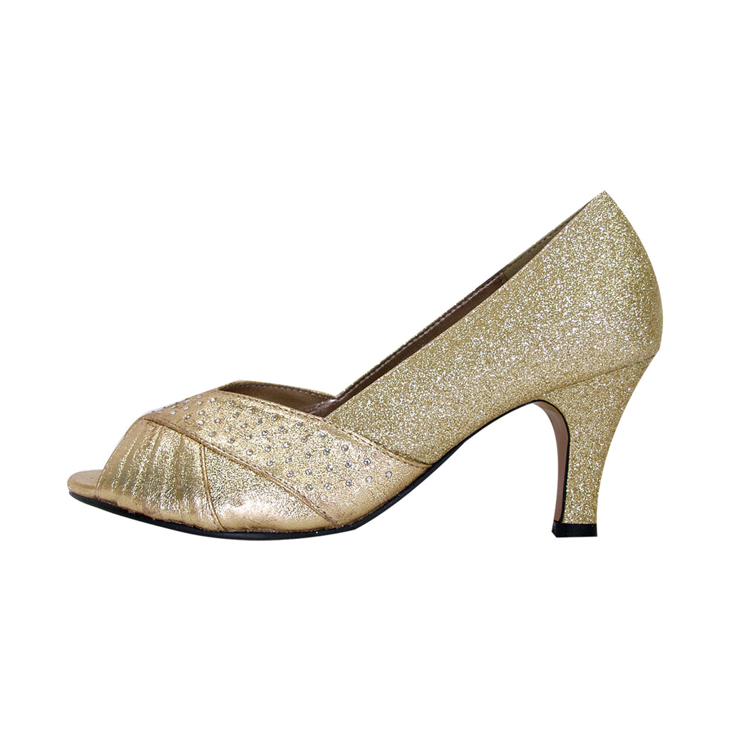 Women Church Shoes DP763-Gold - Church Suits For Less