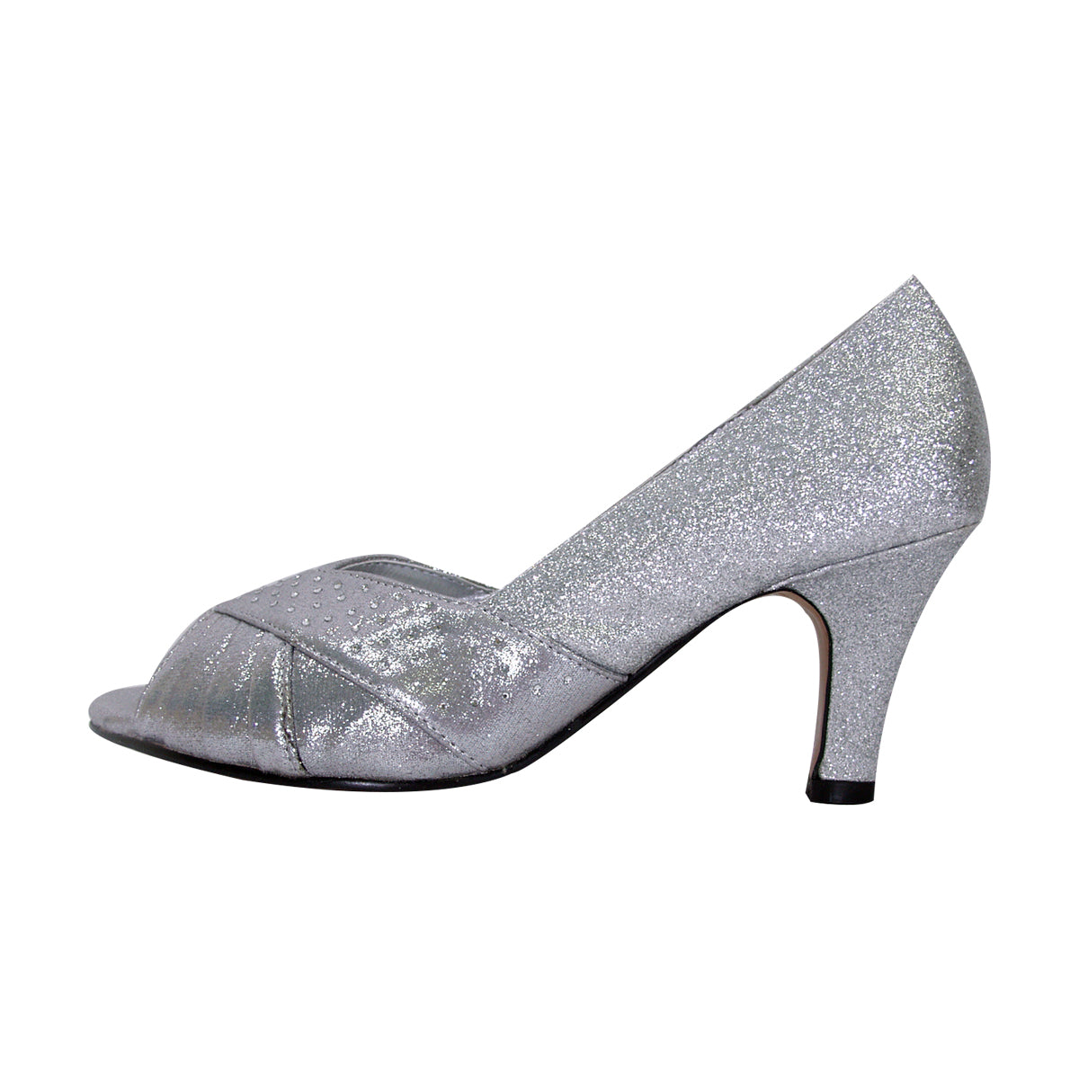 Women Church Shoes DP763-Silver - Church Suits For Less