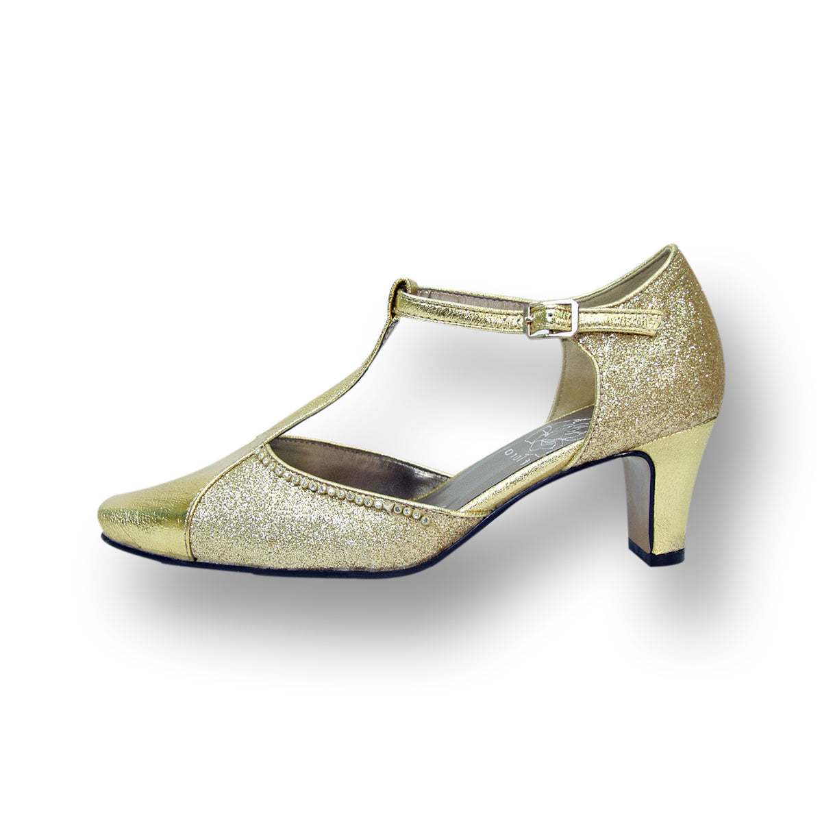 Women Church Shoes DP772-Gold - Church Suits For Less