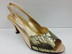 Women Church Shoes DP825-Gold - Church Suits For Less