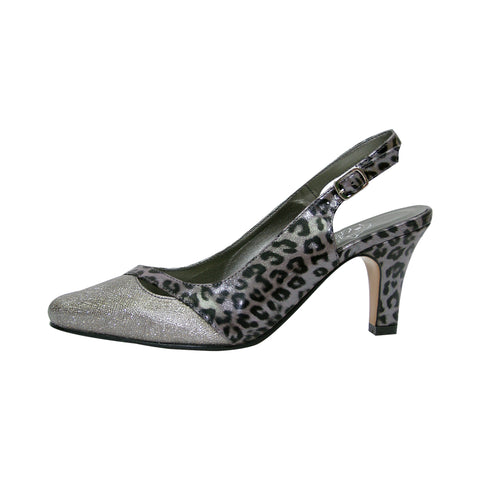 Women Church Shoes DP829-Pewter - Church Suits For Less