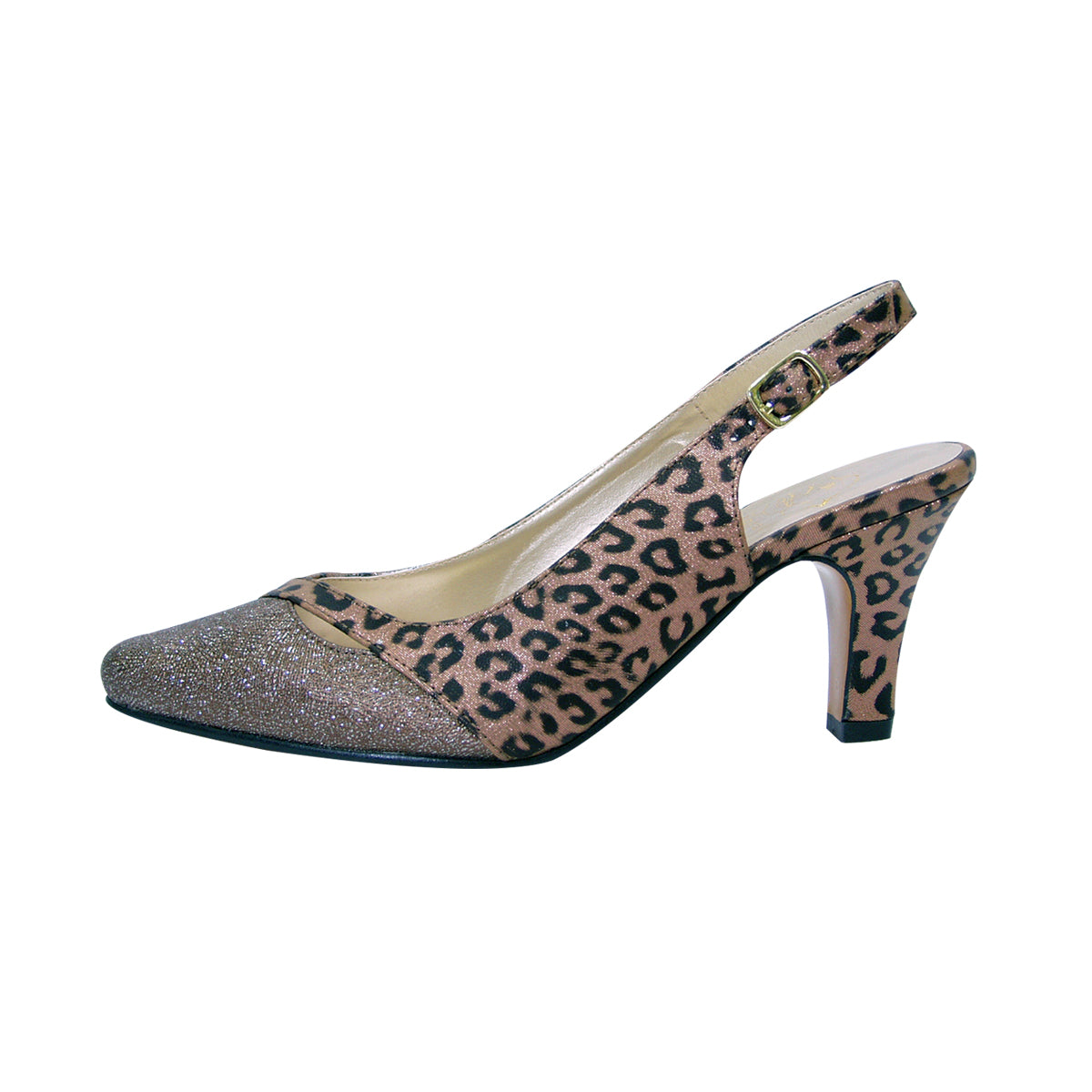 Women Church Shoes DP829-Bronze - Church Suits For Less
