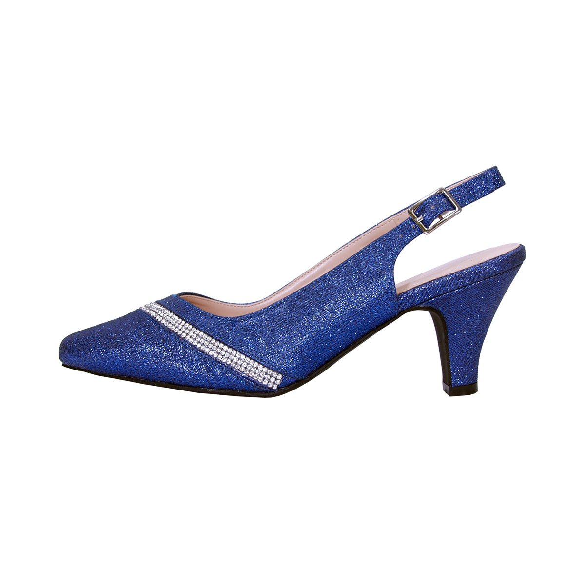 Women Church Shoes DP833-Blue - Church Suits For Less