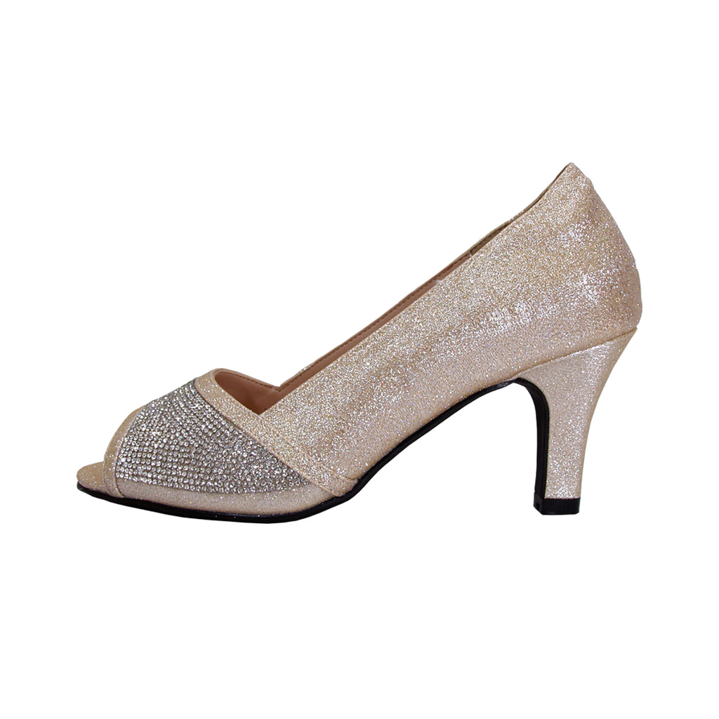 Women Church Shoes DP897-Champagne - Church Suits For Less