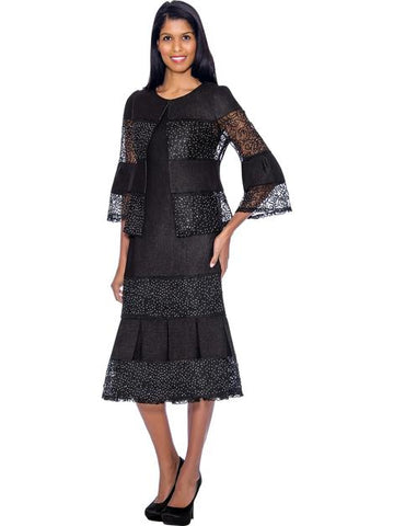 Devine Sport Denim Dress 62052-Black - Church Suits For Less