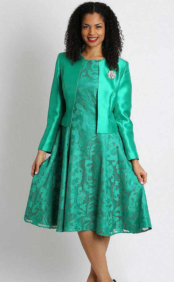 Diana Dress 8138-Emerald - Church Suits For Less